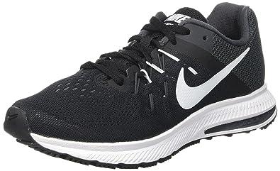 nike donne 2 nero / bianco / zoom winflo antracite scarpa da corsa, 5