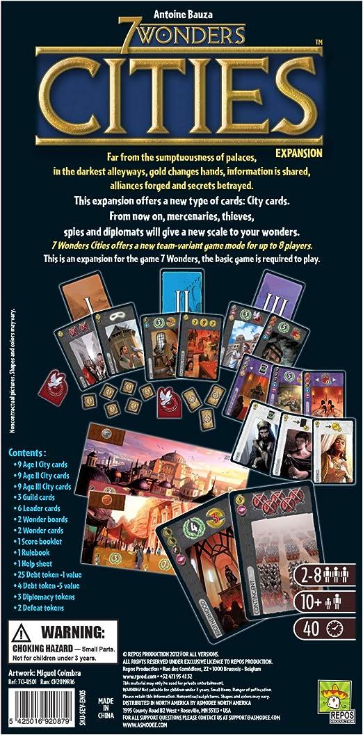 7 Wonders, 7CI-FR01, Juego de mesa: Amazon.es: Juguetes y juegos