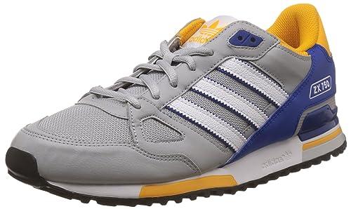 Adidas ZX 750, Zapatillas de Deporte para Hombre, Gris/Azul/Blanco (Onicla/Ftwbla/Azufue), 40 2/3 EU: Amazon.es: Zapatos y complementos