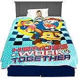 "Franco Kids Bedding Super Soft Plush Blanket, Twin/Full Size 62"" x 90"", Paw Patrol Blue"