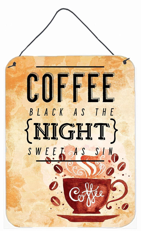 Carolines Treasures Black Coffee Sign Metal Print 16 H x 12 W Multicolor