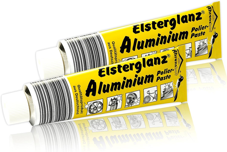 2 X Elsterglanz Aluminium 35 00 L Polierpaste Politur Riesentube 150ml Paste G Alu Neu Küche Haushalt