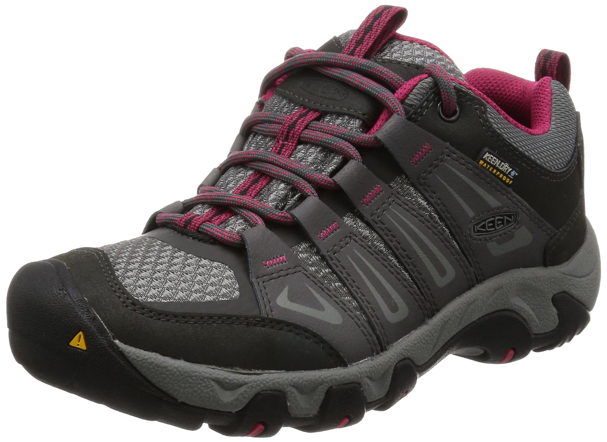 KEEN Women's Oakridge Waterproof Shoe, Magnet/Rose, 9 M US by KEEN (Image #1)