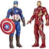 Avengers Marvel Titan Hero Series Captain America & Iron Man Electronic Action Figure Bundle