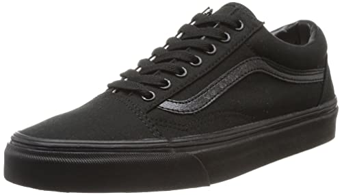 Vans Old Skool Leather Sneaker Unisex Adulto Nero Black/Black Canvas 38