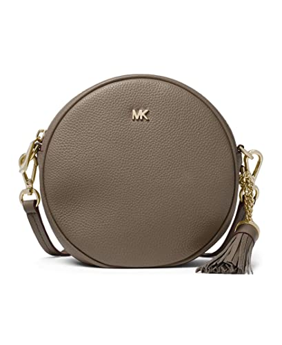 7303e0d242e7 Michael Kors Medium Canteen Circle Crossbody Bag - Mushroom  Handbags   Amazon.com