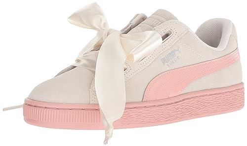 PUMA Baby Girls' Suede Heart Jewel Kids Sneaker: Amazon.co