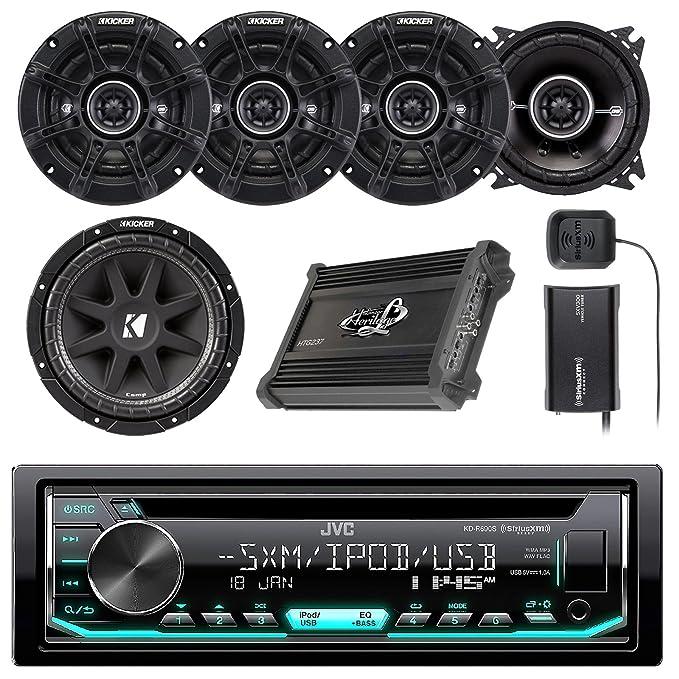 JVC CD/AM/FM/receptor estéreo de coche w/Panel frontal ...