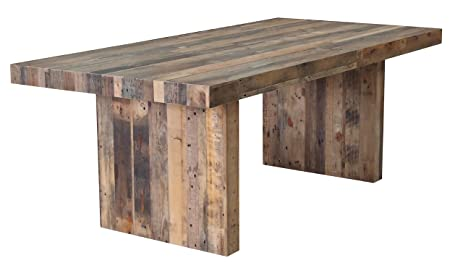 CDI FURNITURE TD1247 Terra Nova Dining Table Rustic Pine, 83 X 39 X 32