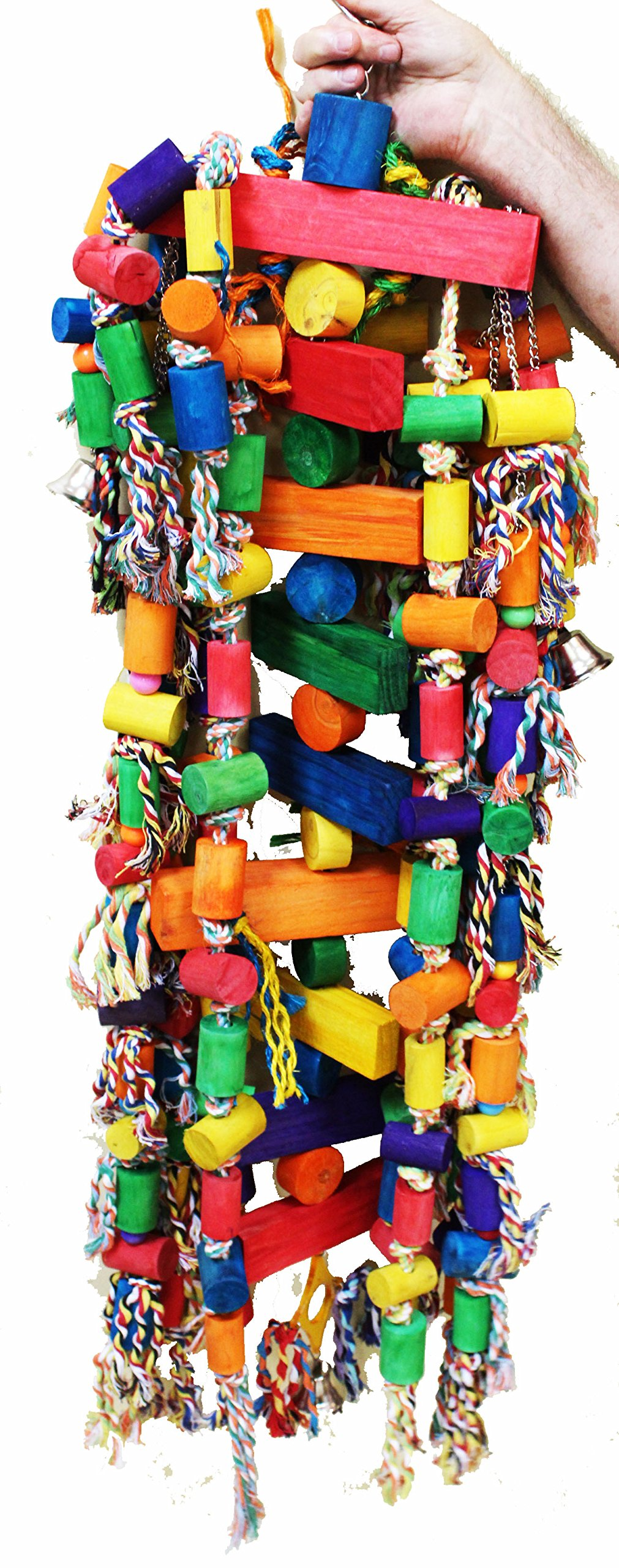 1207 Huge Tower Chewer Parrot Bird Cage Toys Cages Toy Chew Macaw Cockatoo Big by Bonka Bird Toys (Image #1)