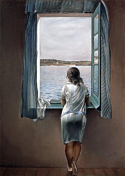 395 Salvador Dalí mujer en la ventana (muchacha en la ventana) 1925 arte