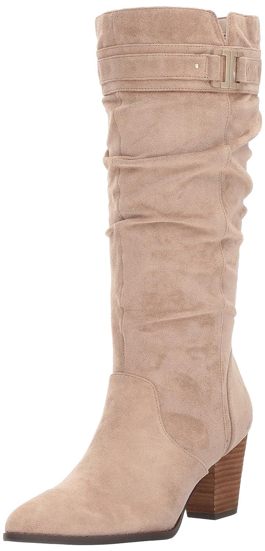 Dr. Scholl's Shoes Women's Devote Riding Boot B072HCVV45 6.5 B(M) US Putty Microfiber