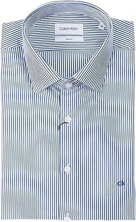 Calvin Klein K10K103174 485 Surf - Camisa para Hombre Blanco 41: Amazon.es: Ropa y accesorios