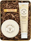Burts Bees Mama Bee Gift Set with Tin, 3 Pregnancy Skin Care Products - Leg & Foot Cream, Belly Butter and Original…