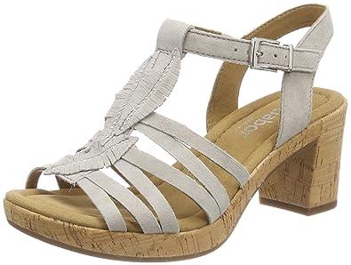 Gabor Shoes Comfort Sport, Sandales Bride Cheville Femme, Beige (Taiga Kork), 38.5 EU