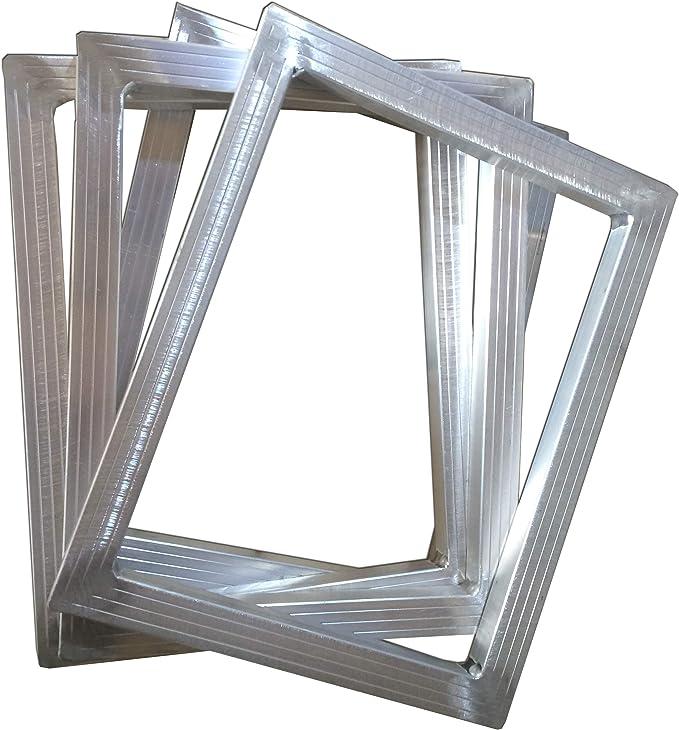 TECHTONGDA Screen Printing Aluminum Frame DIY Screen Frame with No Screen Fabric Mesh 7.5x10 inch 19x25cm