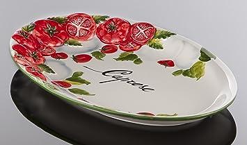 Bassano Ausgefallene Italienische Keramik Ovale Tomaten Caprese