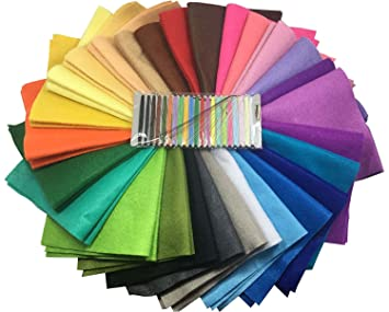 28 Hojas de Fieltro No Tejido Tela Fieltro Suave de Acrílico para Manualidades Patchwork Costura DIY Craft Trabajo 20*20cm Espesor 1,4mm Colores ...
