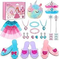 JOIC-KIZ Princess Dress Up Shoes & Jewelry Boutique, Princess Toys with Princess Jewelry , 3 Play Shoes, Unicorn Kids…