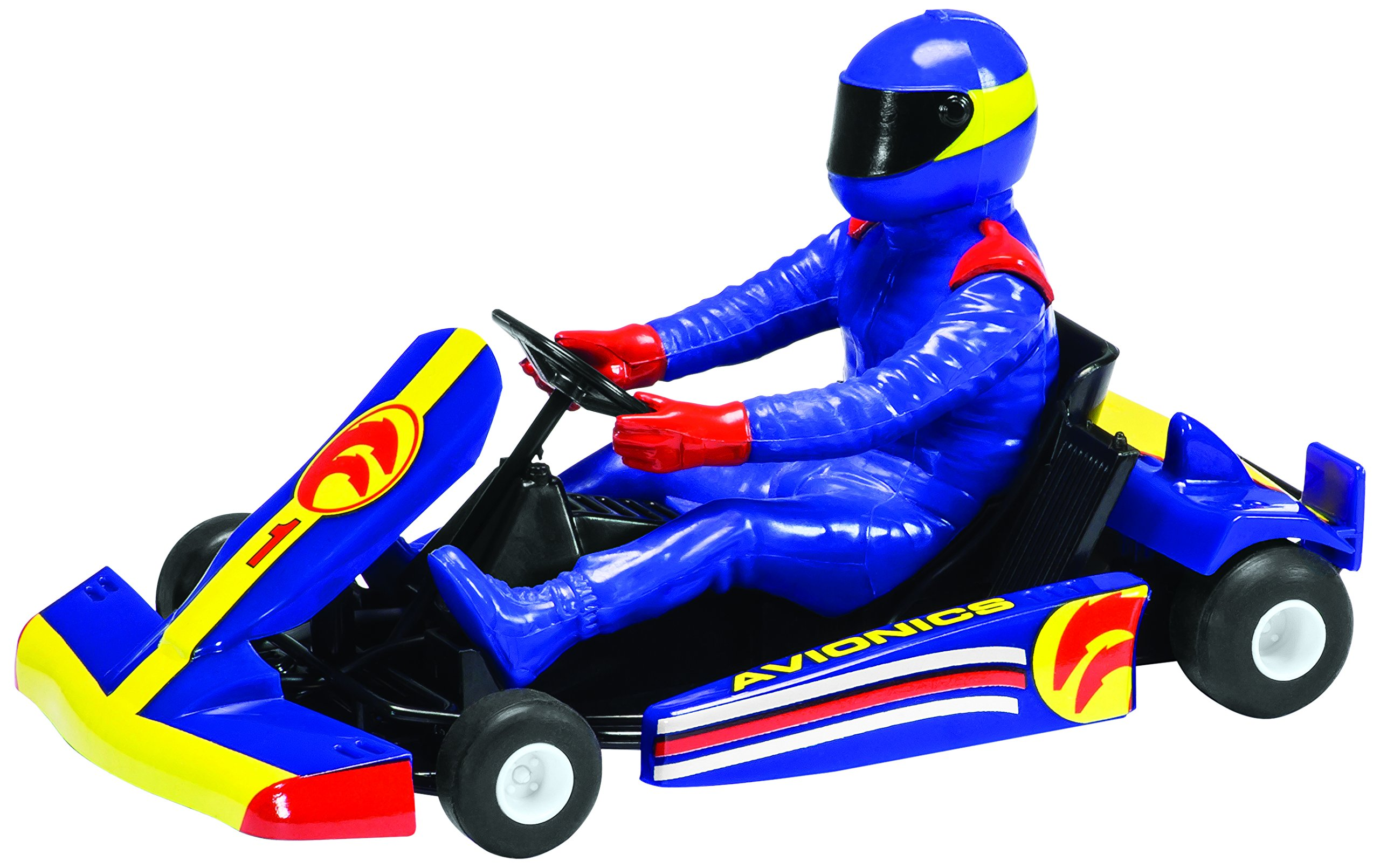 Scalextric Super Kart 2 Blue #1 1:32nd Scale Slot Car