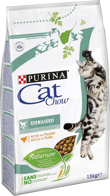Purina Cat Chow Esterilizado Gato Adulto Pollo 6 x 1,5 Kg
