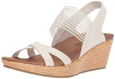 14589476b6c Skechers Cali Women s Beverlee-High Tea Wedge Sandal