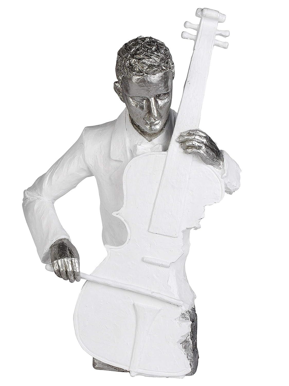 Moderne Skulptur Deko Figur aus Keramik Pearl Blue Höhe 30 cm