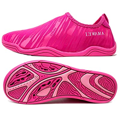 AMAWEI Kids Water Shoes for Boys Girls, Mens Womens Swim Shoes Quick Dry Beach Sports Aqua Shoes for Pool Surfing Walking | Water Shoes