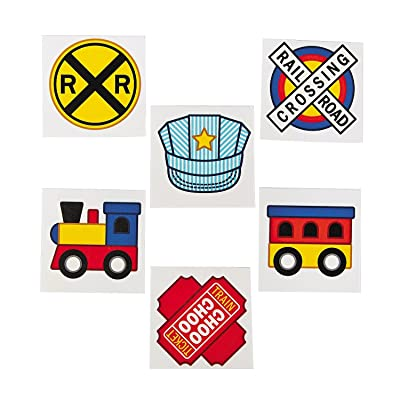 TRAIN PARTY TATTOOS (72PC) - Apparel Accessories - 72 Pieces: Kitchen & Dining