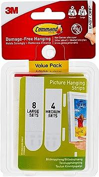 Command para colgar cuadros tiras Value Pack, color multicolor Medium & Large: Amazon.es: Oficina y papelería