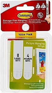 Command para colgar cuadros tiras Value Pack, color multicolor ...
