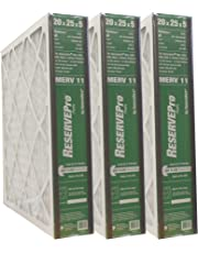 "GeneralAire #4501 ReservePro 20x25x5 furnace filter, Actual Size:19 5/8"" x 24 3/16"" x 4 15/16"" (Box of 3)"