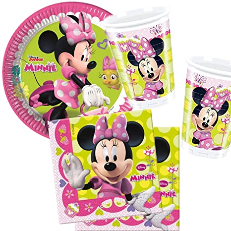 37 piezas Set de fiesta * Minnie Mouse Boutique * con 8 ...