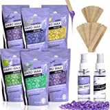 Hard Wax Beans Kit [6 Bags + Pre & After Spray] Hard Wax Beads Hair Removal - Waxing Beds