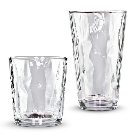 d4aebb3cfdc2 Emenest Clear Drinking Glasses (Set of 16)
