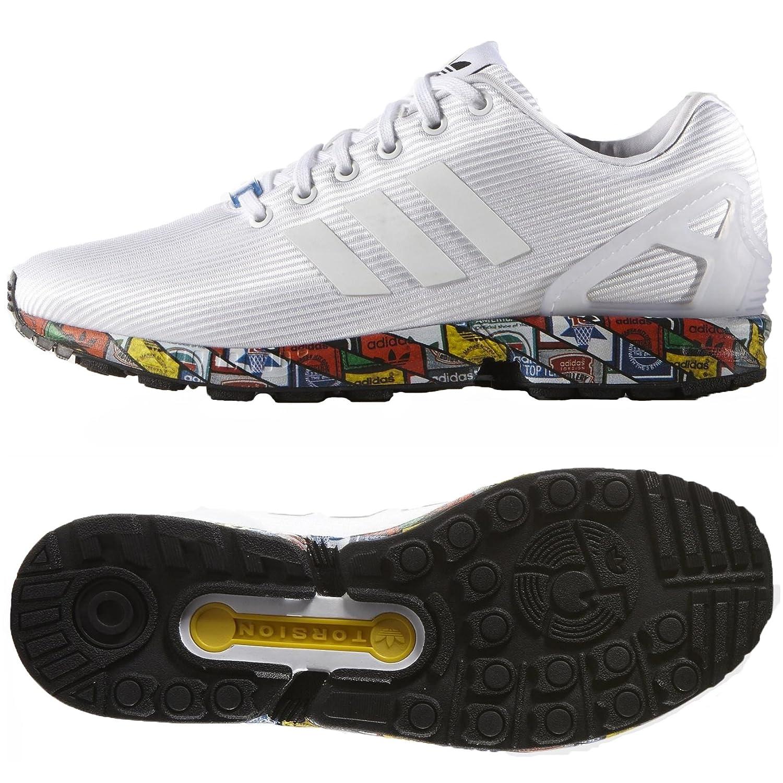 designer fashion 189a0 7472f adidas Originals ZX 8000 Flux AF6390 White/Black Diamond Ripstop Upper  Men's Shoes