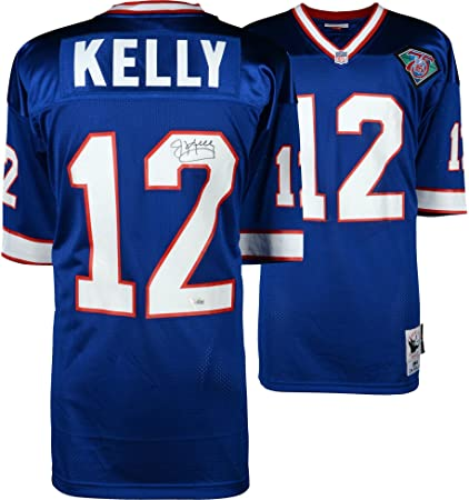 357e5a960 Jim Kelly Buffalo Bills Autographed Blue Mitchell   Ness 1994 Authentic  Jersey - Fanatics Authentic Certified