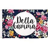 Delta Gamma Floral Pattern Letter Sorority Flag Greek Banner Large 3 feet x 5 feet Sign Decor DG
