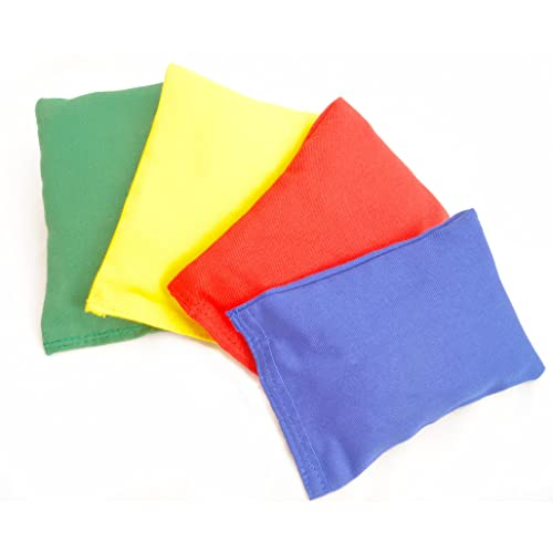 New 360 Soft Filled Kids Play Pe Games Bean Bags Pack Of 4 Different Colours