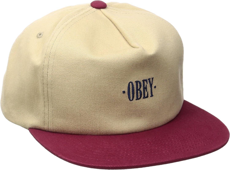 Obey - Gorra de béisbol - para Hombre Beige Talla única: Amazon.es ...