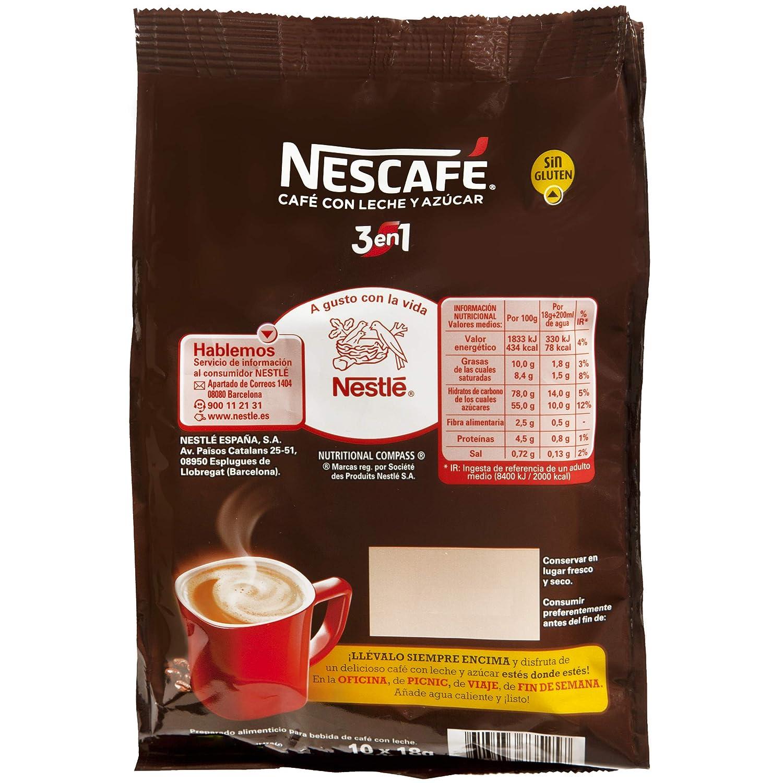 NESCAFÉ 3 en 1   Bolsa de Café   Paquete de 10x18g: Amazon.es: Alimentación y bebidas