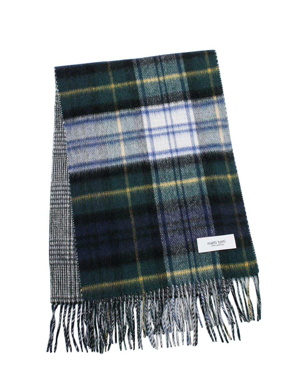 Green X Navy 100% Cashmere Reversible Scarf Muffler Women Gift Scarves Wrap Blanket C0211B1-2