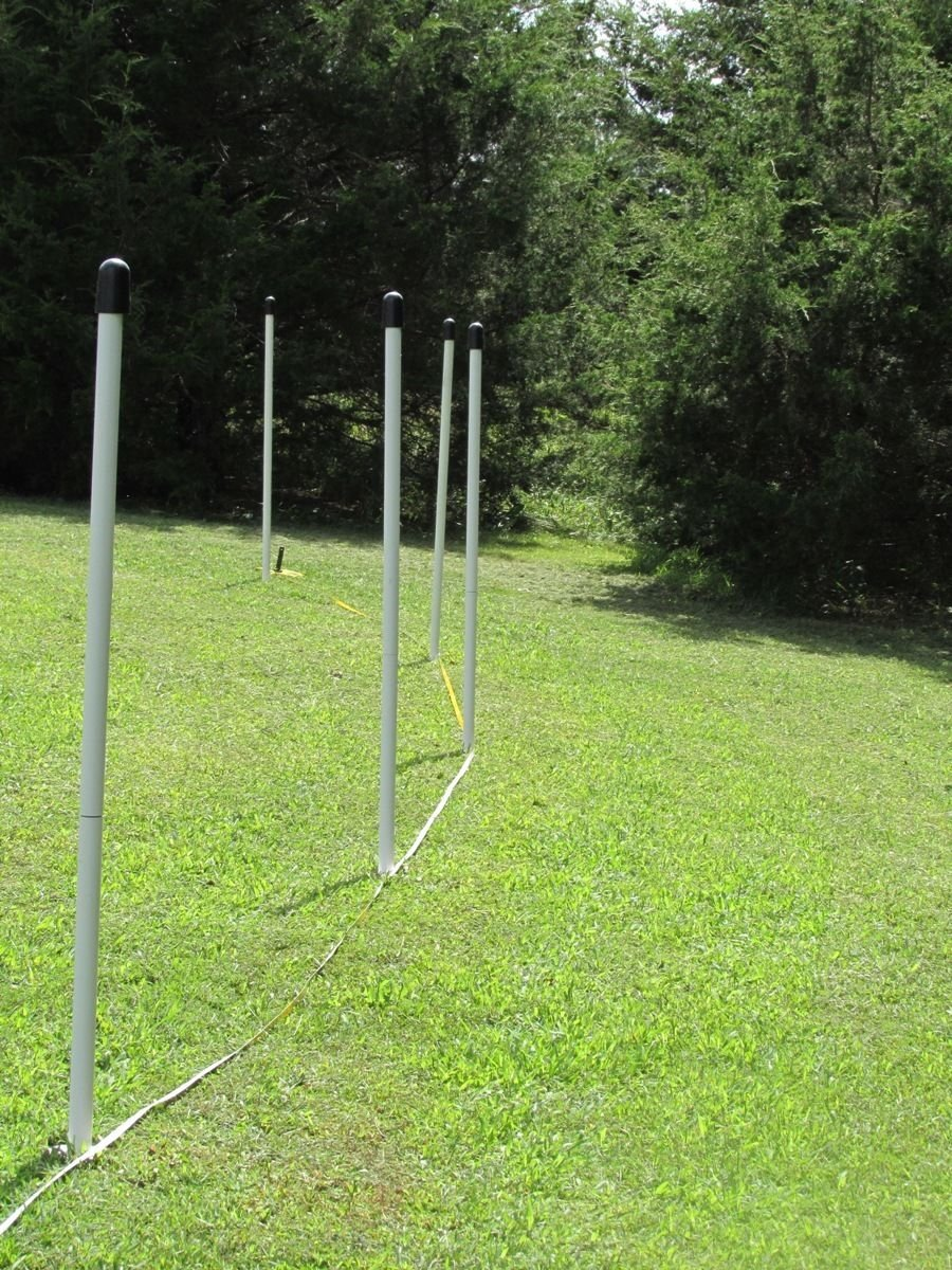 USA E-Z POCKET FENCE 4' T SAFETY FLEXPOLE KIT FOR SNOW GARDEN BASEBALL OUTFIELD WINTER SPORTS VOLLYBALL (24 SLEEVES 24 CAPS)