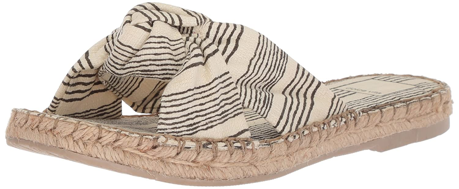 Dolce Vita Women's Benicia Slide Sandal B077QTMVFZ 6 B(M) US|Natural/Black Fabric