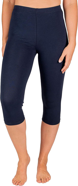 SES Damen Leggings Capri 3//4 Baumwolle