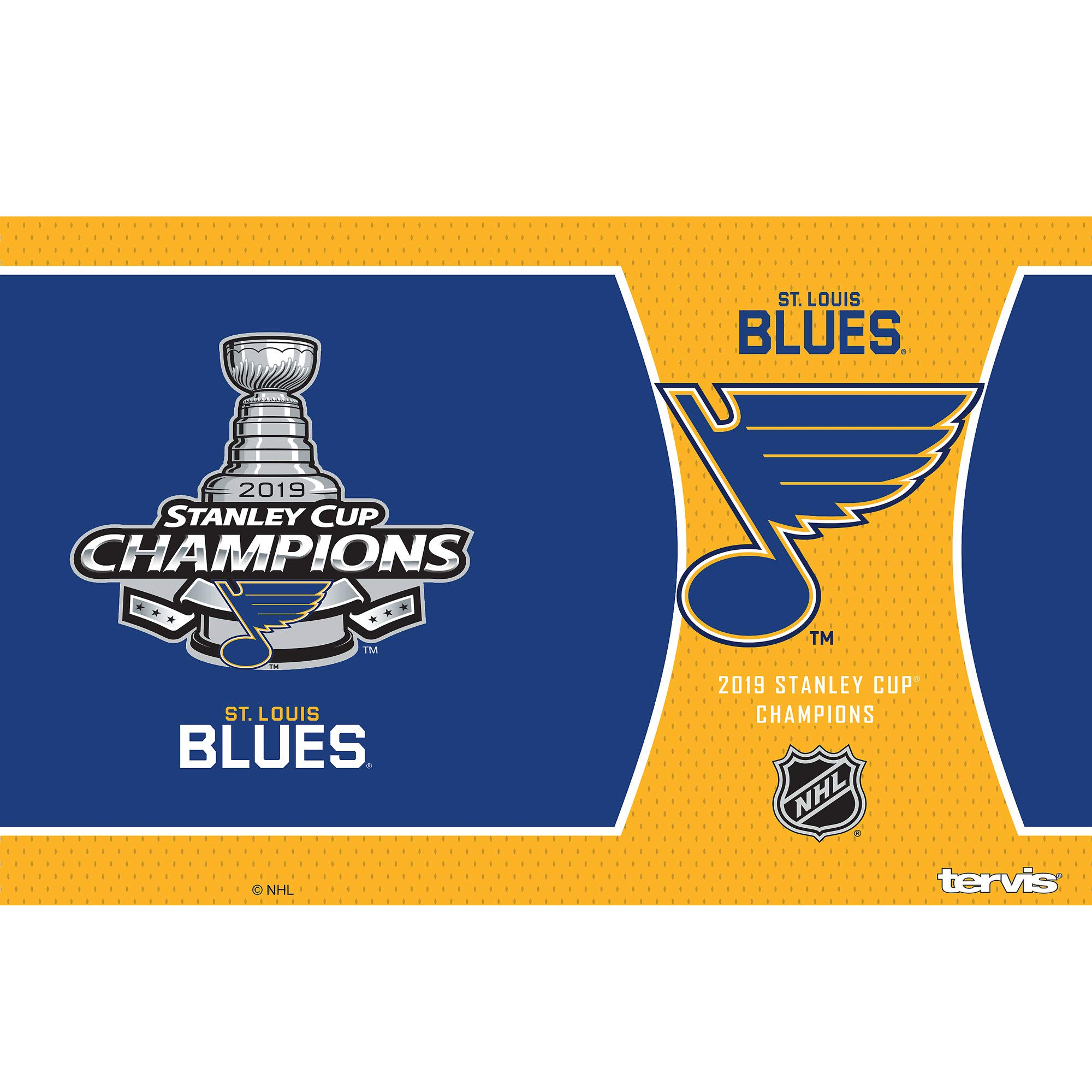 Tervis 1336027 NHL St. Louis Blues 2019 Stanley Cup Champions Stainless Steel Insulated Tumbler with Clear & Black Hammer Lid, 20 oz, Silver by Tervis (Image #2)