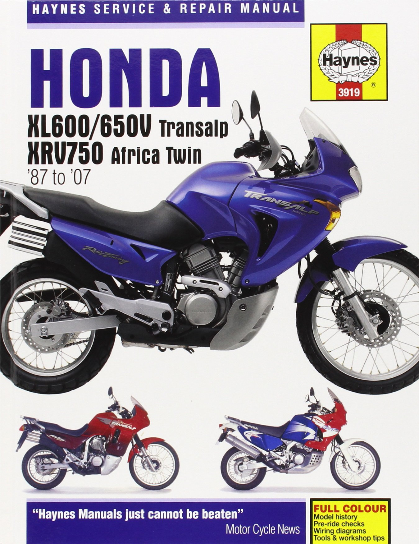 Honda XL600/650V Transalp & XRV750 Africa Twin '87 to '07 (Haynes Service & Repair  Manual): John H Haynes: 9781844257546: Amazon.com: Books
