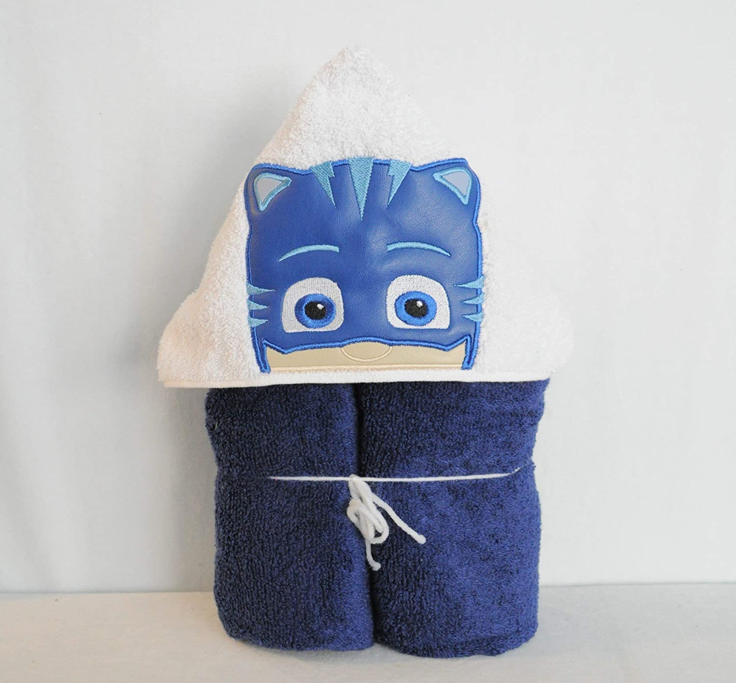 Blue Cat Bedtime Hero Hooded Bath Towel - Baby, Child, Tween