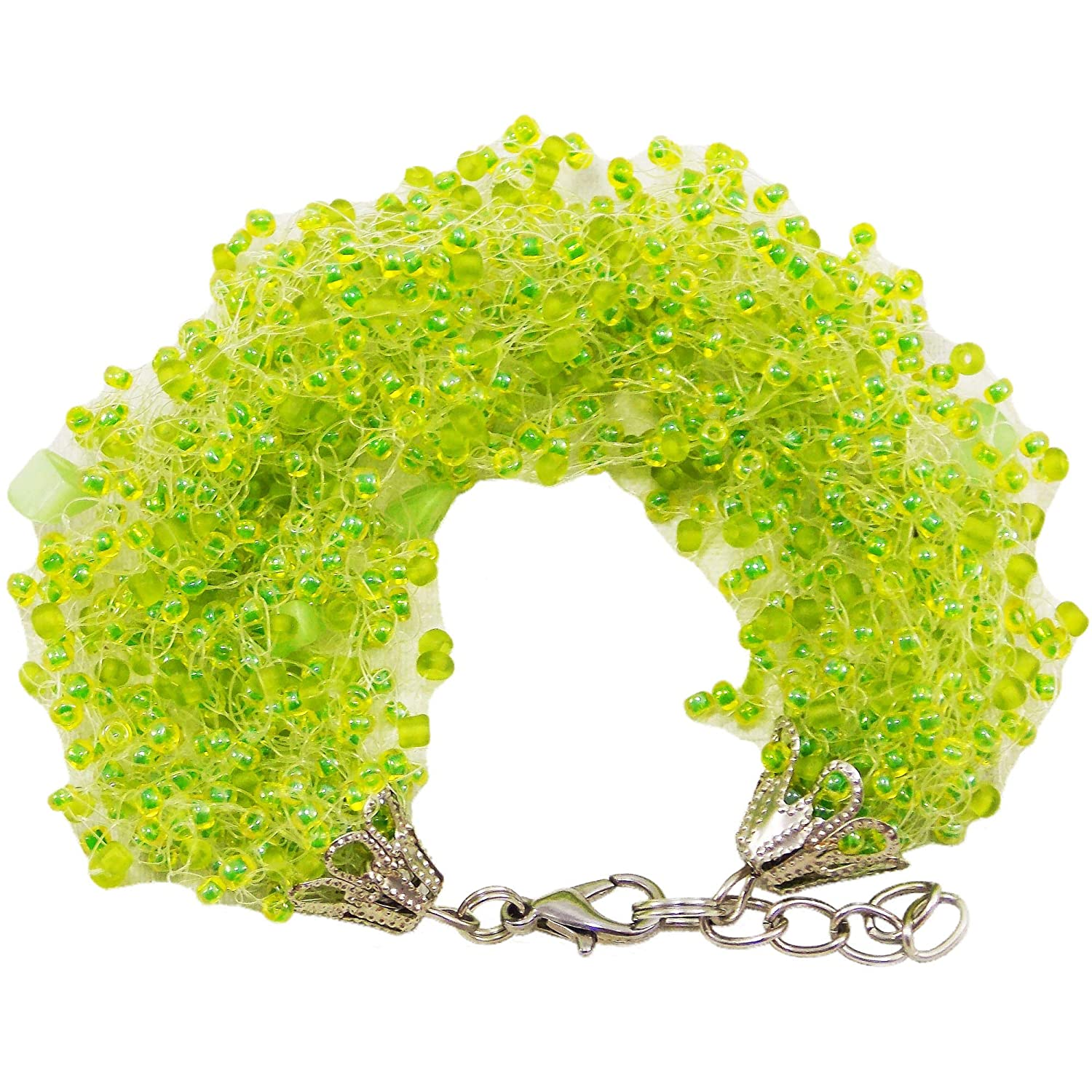 HANDMADE Leaving gift for mom jewelry delicate bracelets Costume women light green Fashion Accessory layed stress