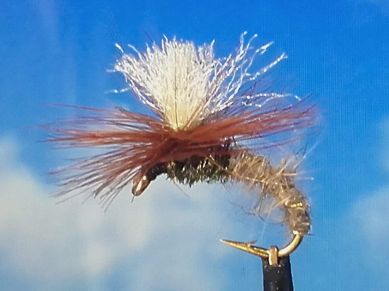 Trockenfliegen ' Klinkhammer Hares Ear ' 3er Set, Hakengrö ß e 12